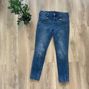 True Religion Moto-Style High-Rise Skinny Jeans